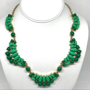 J. Crew Green Bead Cluster Necklace